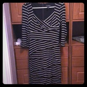 White House black market striped dress